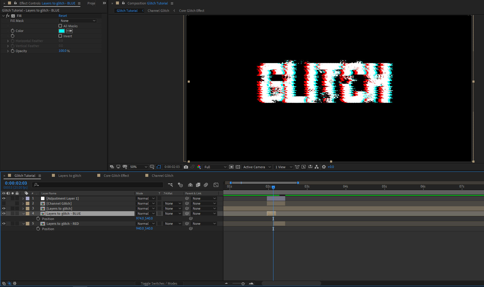 How to create a glitch effect in After Effects