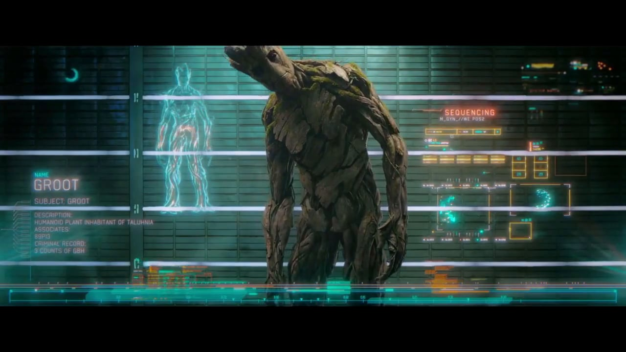 Guardians of the Galaxy sci-fi interface design