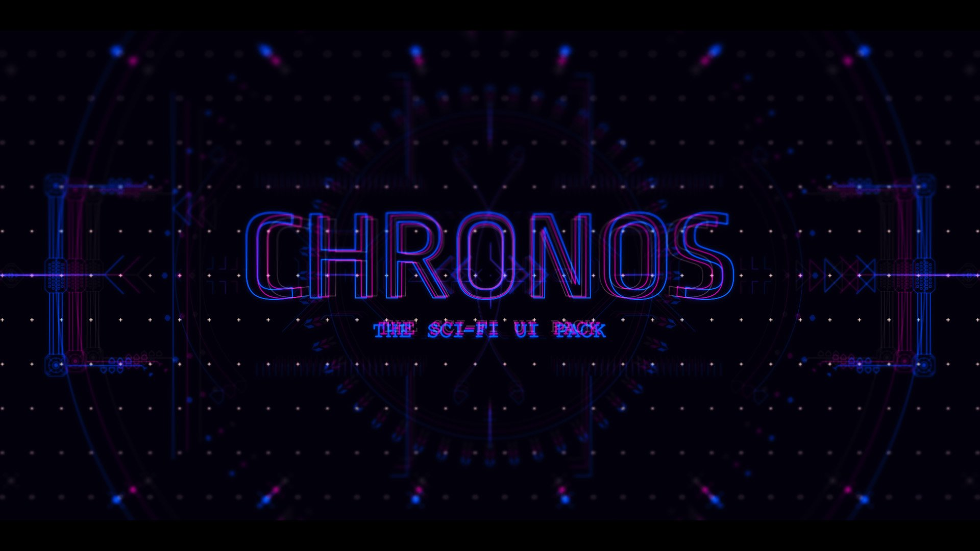 sci-fi ui title card chronos
