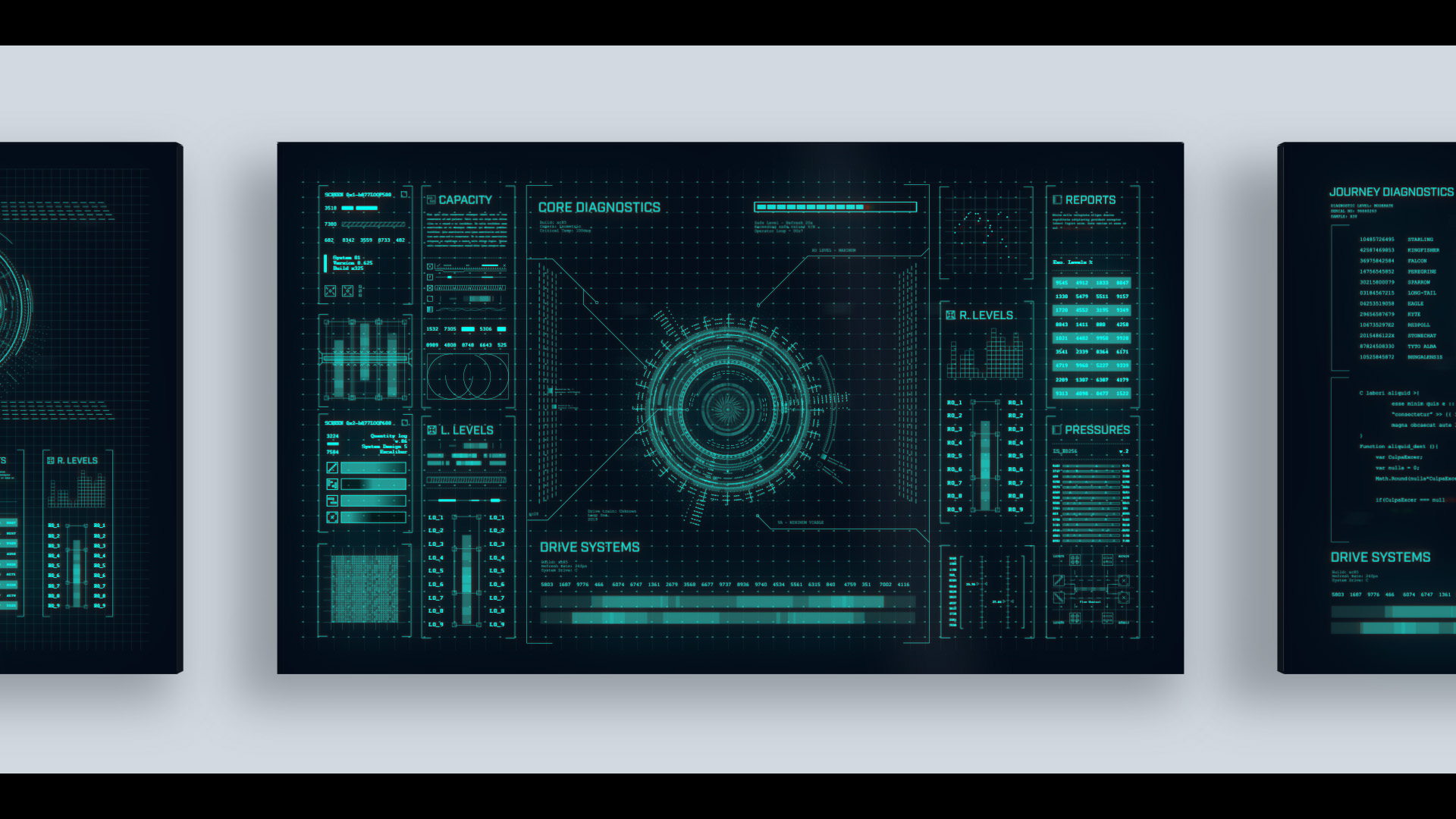 sci-fi ui after effects