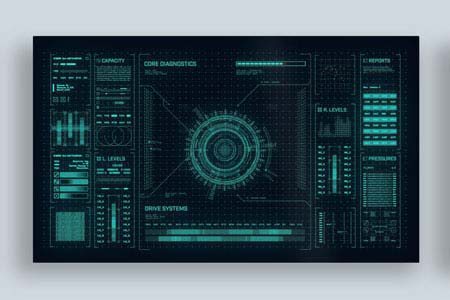 Galactic - Futuristic UI template for After Effects
